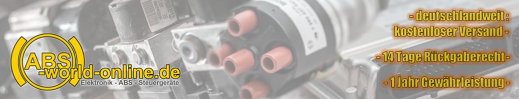ABS-world-online - Spezialisten für Motorelektronik, Steuergeräte, ABS-Logo
